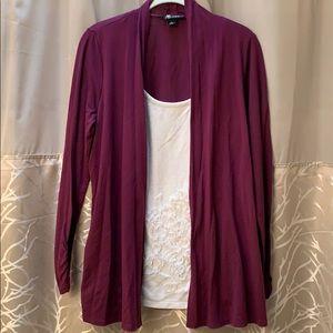 Shirt & Cardigan Combo